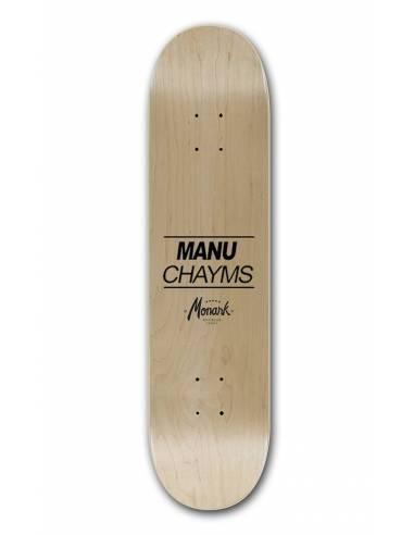 Skateboard Weiß Rasta Linie